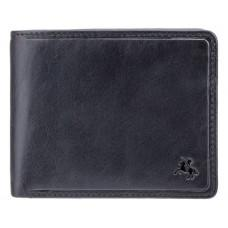 Чёрный кошелек мужской Visconti TSC46 BLK Francesca c RFID