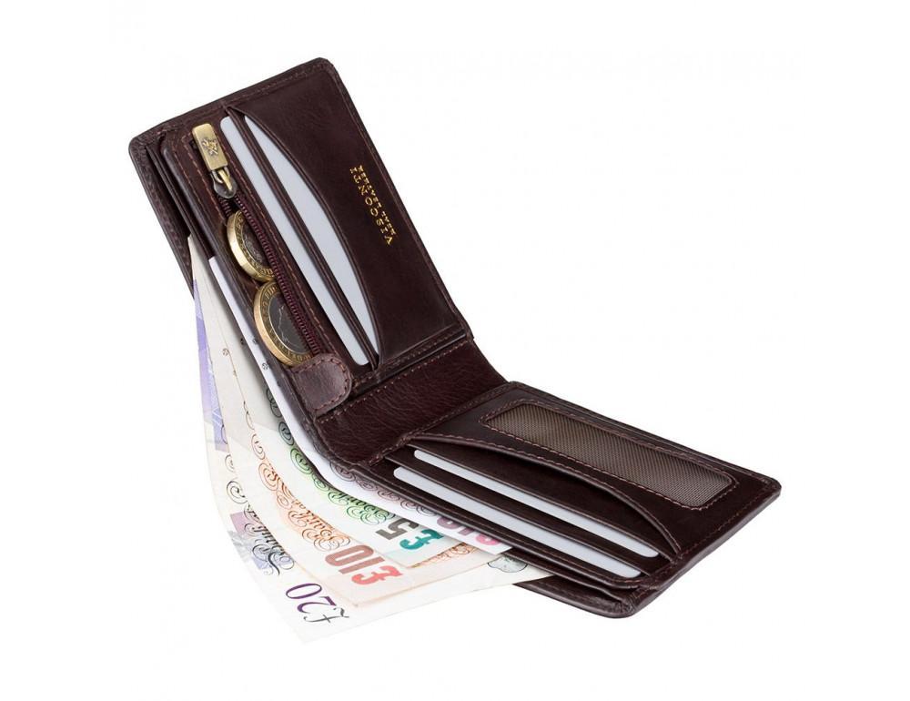 Тёмно-коричневый кошелек мужской Visconti TSC46 BRN Francesca c RFID (Brown) - Фото № 4