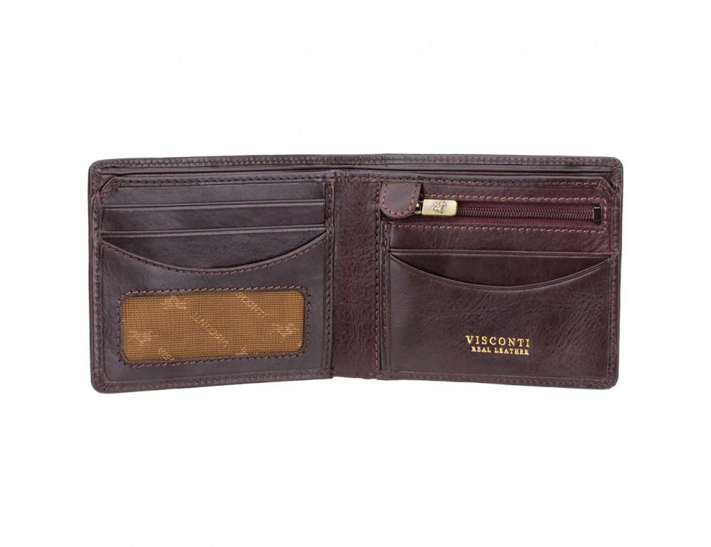 Тёмно-коричневый кошелек мужской Visconti TSC46 BRN Francesca c RFID (Brown) - Фото № 2