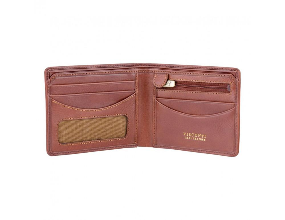 Коричневый кошелек мужской Visconti TSC46 TAN Francesca c RFID - Фото № 2