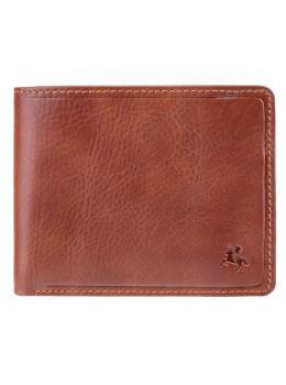 Коричневий гаманець чоловічий Visconti TSC46 TAN Francesca c RFID