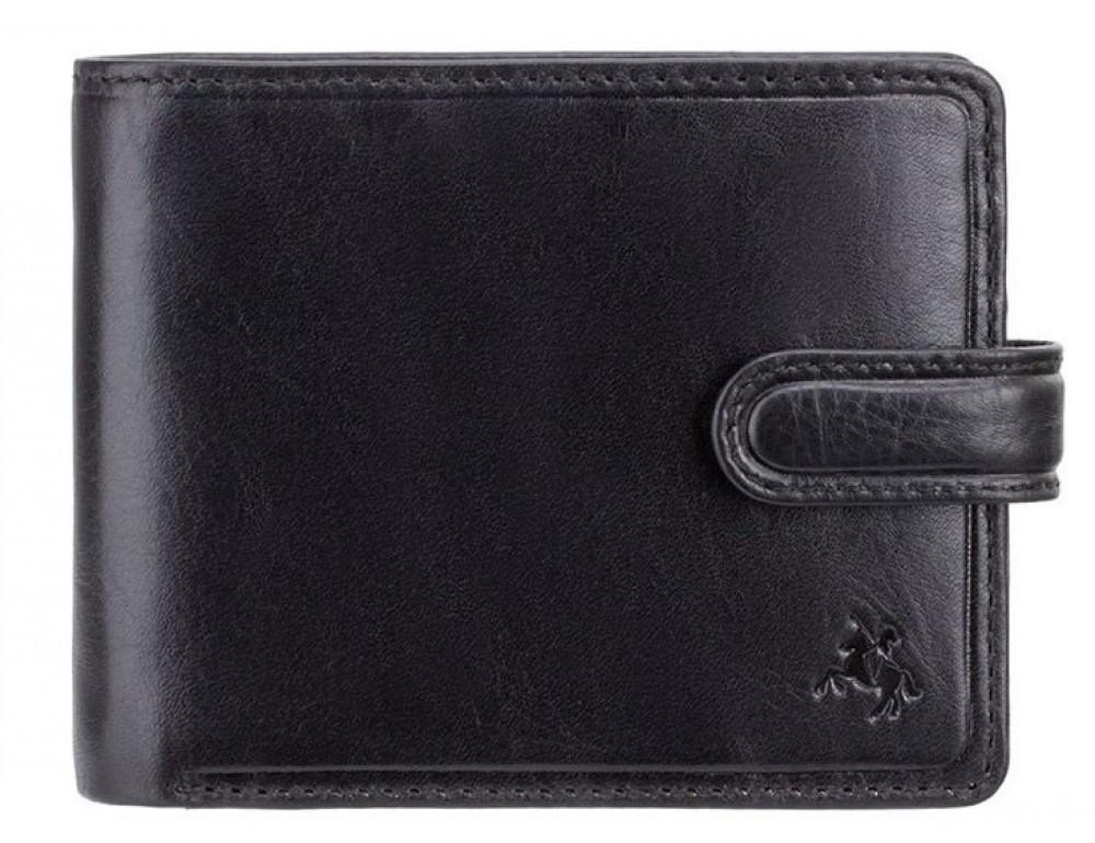 Чёрный кошелек мужской Visconti TSC47 BLK Riccardo c RFID