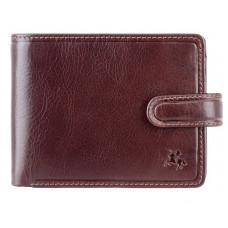 Тёмно-коричневый кожаный кошелёк на защёлке Visconti TSC48 BRN Filipo