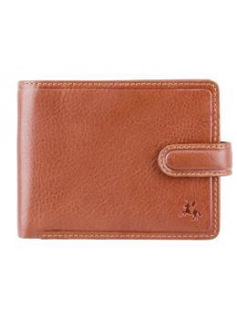 Коричневый кожаный кошелёк на защёлке Visconti TSC48 TAN Filipo