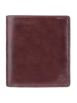 Тёмно-коричневый кожаный портмоне унисекс Visconti TSC49 BRN Matteo c RFID