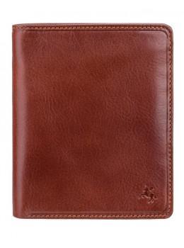 Коричневый кожаный портмоне под визитки Visconti TSC49 TAN Matteo c RFID