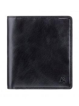 Чёрный кожаный кошелёк под визитки Visconti TSC49 BLK Matteo c RFID