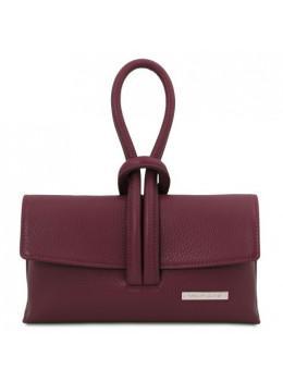 Бордова жіноча сумочка-клатч Tuscany Leather TL141990 bordeaux
