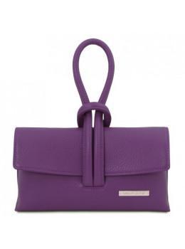 Жіночий шкіряний клатч фіолетового кольору Tuscany Leather TL141990 Purple