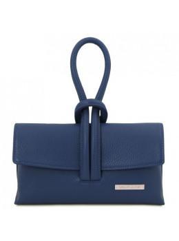 Темно-синя жіноча сумочка-клатч Tuscany Leather TL141990 Navy Blue