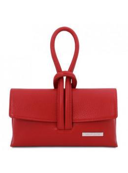 Жіночий шкіряний клатч червоного кольору Tuscany Leather TL141990 Red