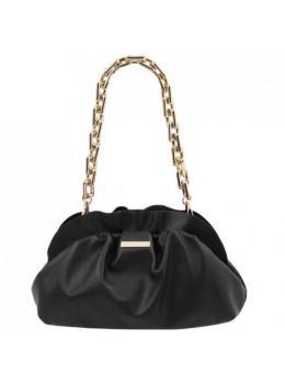 Чорна шкіряна сумочка-клатч жіноча Tuscany Leather TL142184 Black