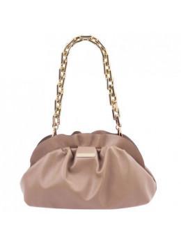 Бежева жіноча сумка-клатч з телячої шкіри Tuscany Leather TL142184 Nude