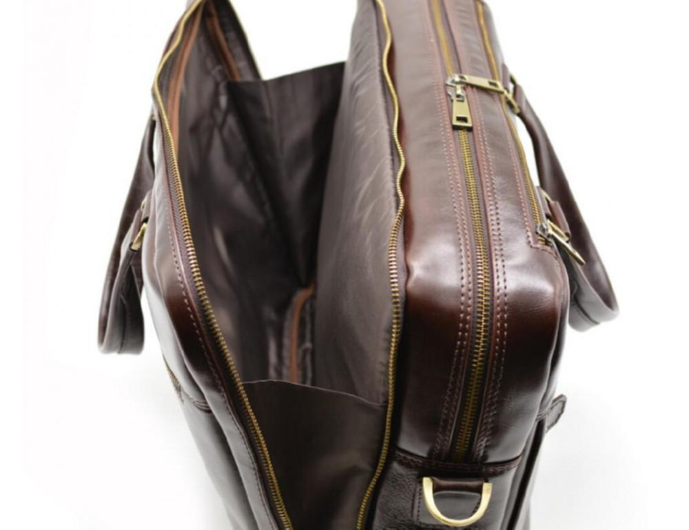 Стильный коричневый портфель TARWA TX-4664-4lx Бородовый - Фото № 2