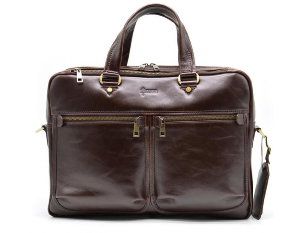 Стильный коричневый портфель TARWA TX-4664-4lx Бородовый - Фото № 1