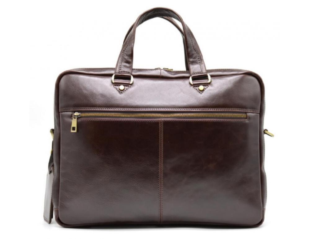 Стильный коричневый портфель TARWA TX-4664-4lx Бородовый - Фото № 3