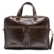 Стильний коричневий портфель TARWA TX-4664-4lx бородовой