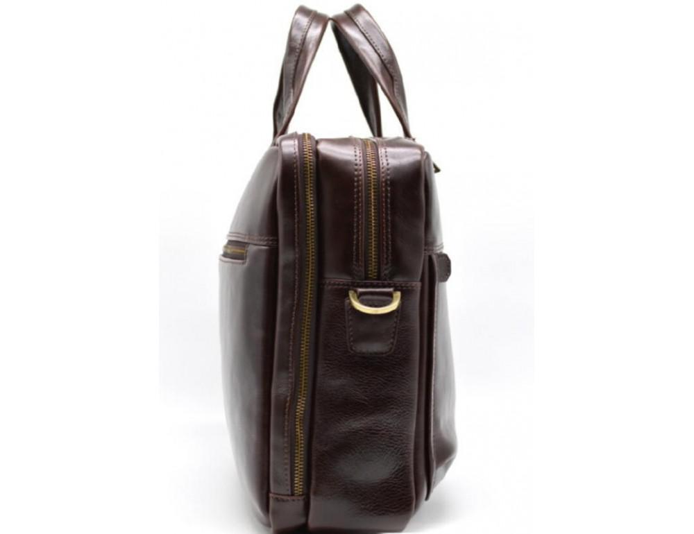 Стильный коричневый портфель TARWA TX-4664-4lx Бородовый - Фото № 4