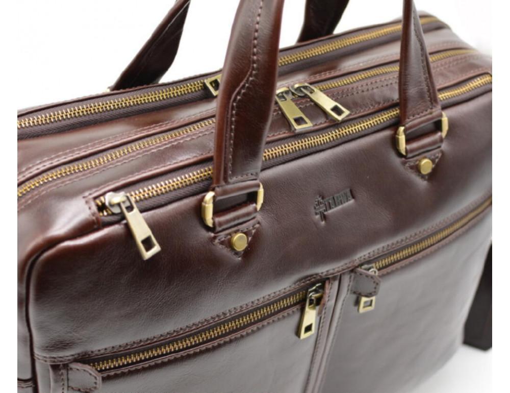 Стильный коричневый портфель TARWA TX-4664-4lx Бородовый - Фото № 5