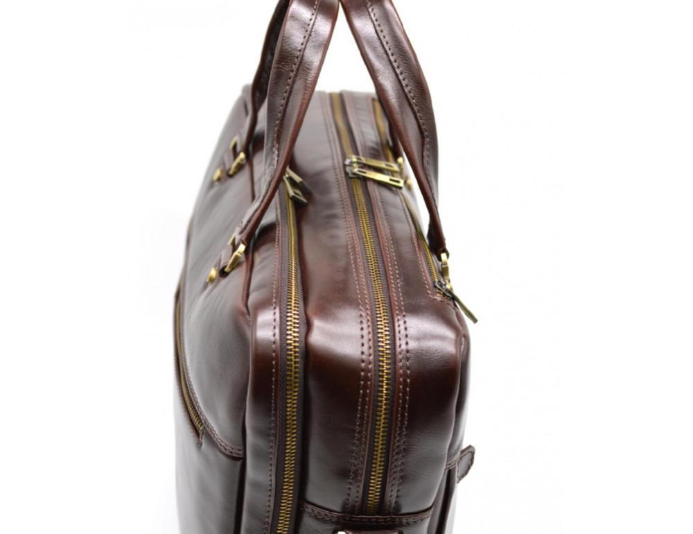 Стильный коричневый портфель TARWA TX-4664-4lx Бородовый - Фото № 6