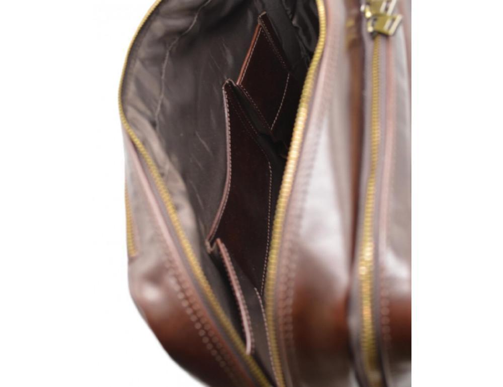 Стильный коричневый портфель TARWA TX-4664-4lx Бородовый - Фото № 7