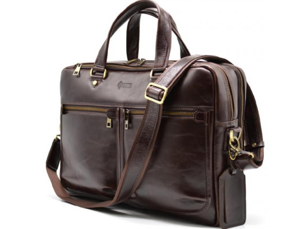 Стильный коричневый портфель TARWA TX-4664-4lx Бородовый - Фото № 8