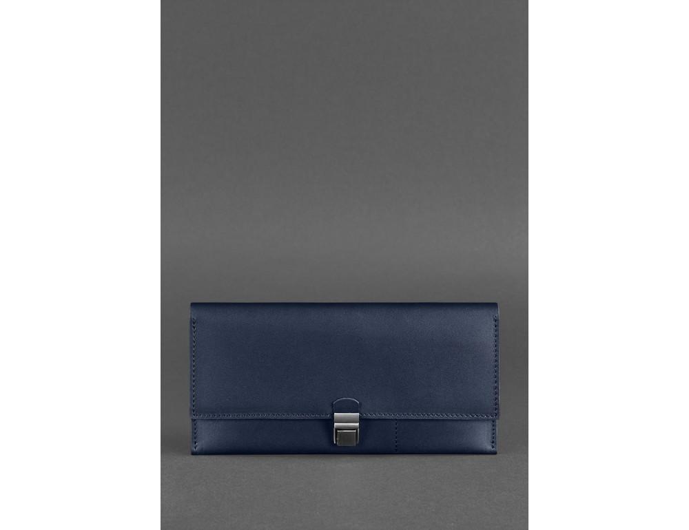 Тёмно-синий кожаный органайзер для документов Blanknote BN-TK-2-NAVY-BLUE - Фото № 1