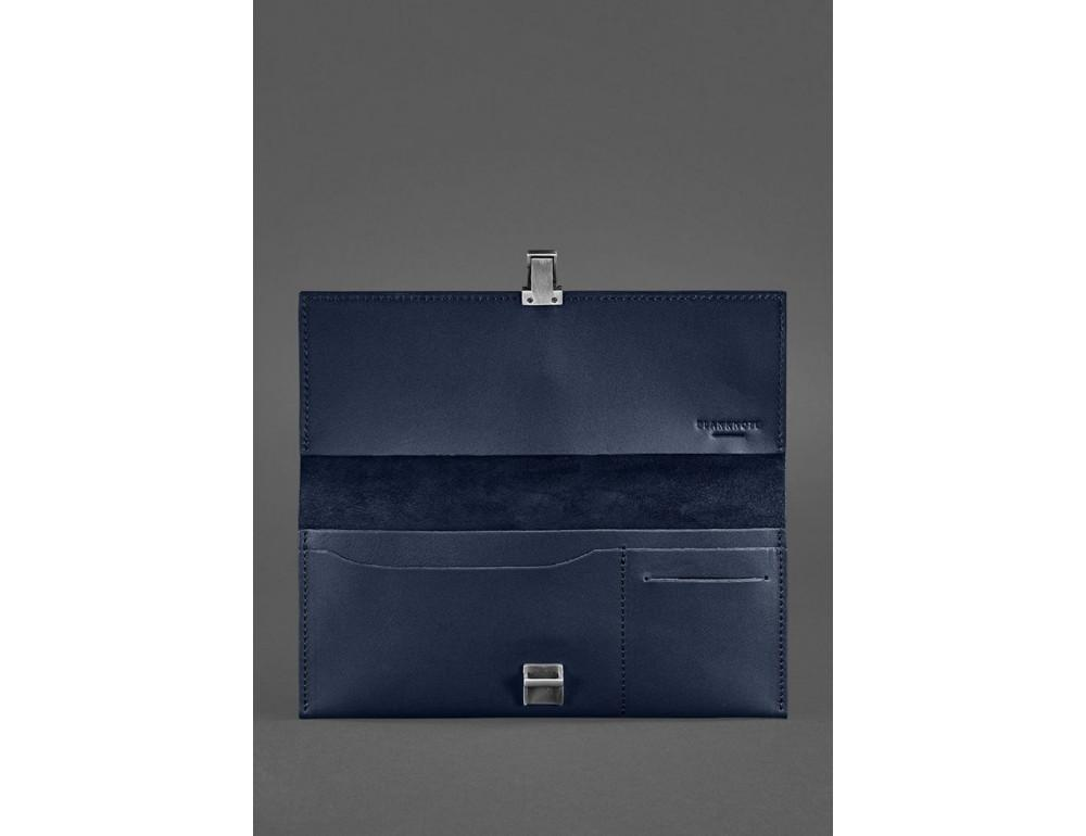 Тёмно-синий кожаный органайзер для документов Blanknote BN-TK-2-NAVY-BLUE - Фото № 3