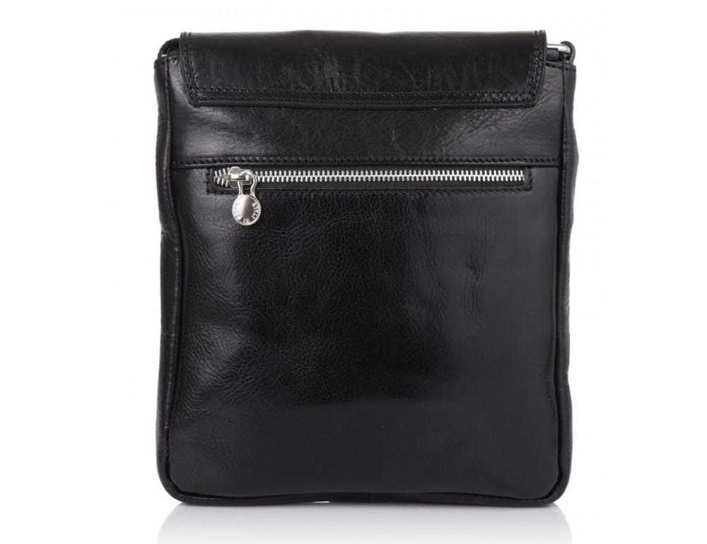 Чёрная кожаная сумка через плечо VIRGINIA CONTI V-01277A - Фото № 2