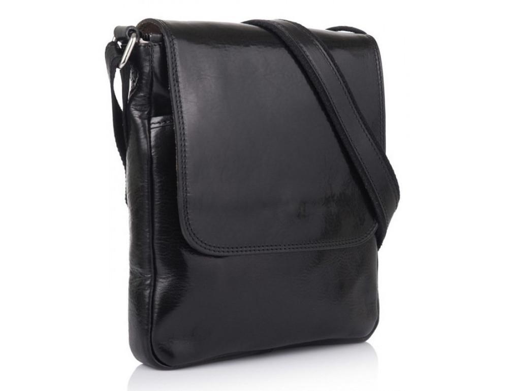 Чёрная кожаная сумка через плечо VIRGINIA CONTI V-01277A - Фото № 1