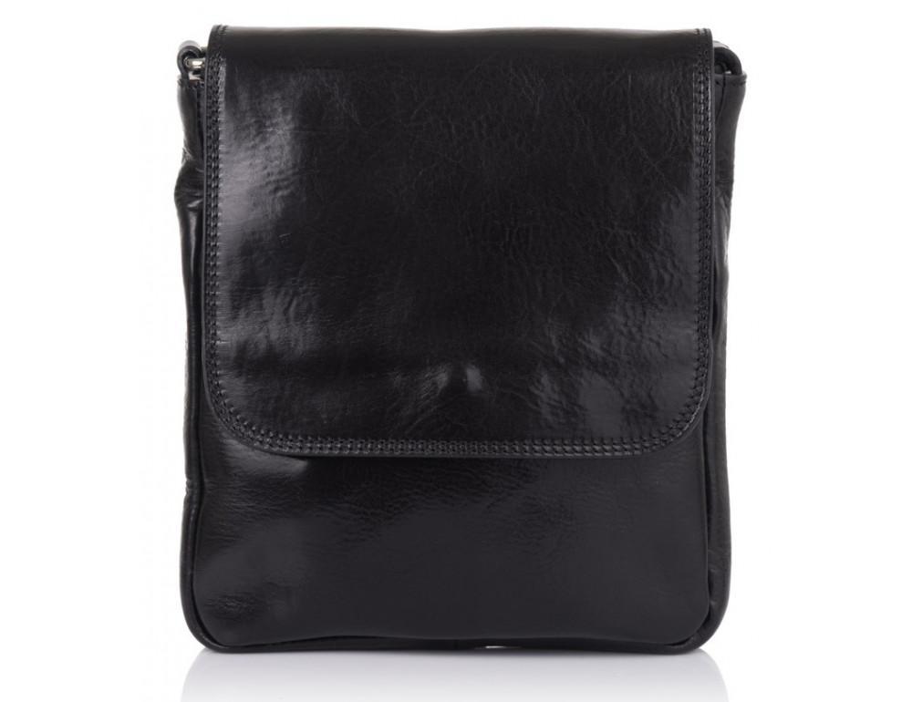 Чёрная кожаная сумка через плечо VIRGINIA CONTI V-01277A - Фото № 3
