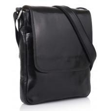 Чёрная кожаная сумка через плечо VIRGINIA CONTI V-01277A