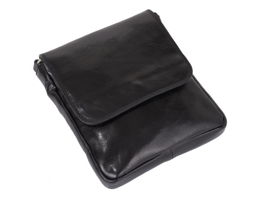 Чёрная кожаная сумка через плечо VIRGINIA CONTI V-01277A - Фото № 4