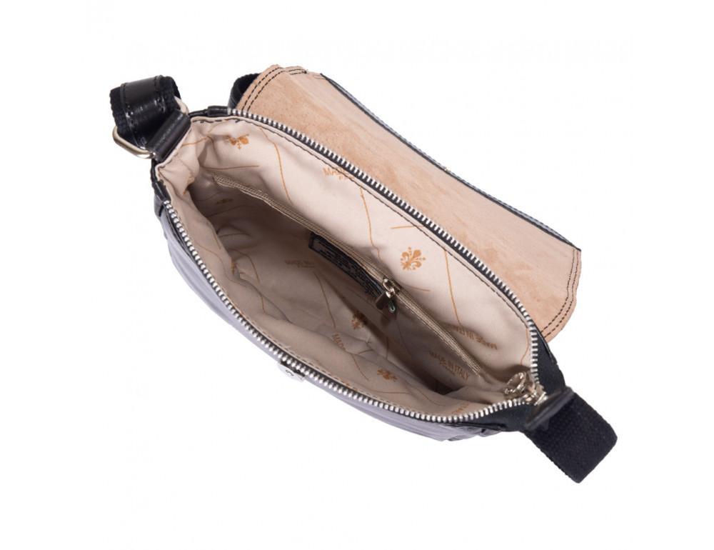 Чёрная кожаная сумка через плечо VIRGINIA CONTI V-01277A - Фото № 5