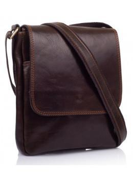 Коричневая кожаная сумка через плечо VIRGINIA CONTI V-01277C