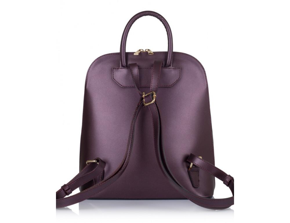 Бордовый кожаный рюкзак трансформер VirginiaConti V01345B - Фото № 2