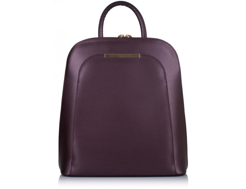 Бордовый кожаный рюкзак трансформер VirginiaConti V01345B - Фото № 3
