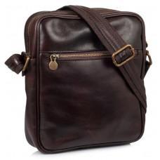Коричневая кожаная сумка через плечо VIRGINIA CONTI V-01508C