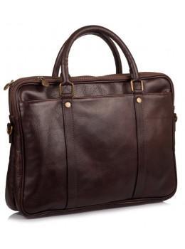 Коричневая кожаная сумка для мужчин Virginia Conti V-0502C