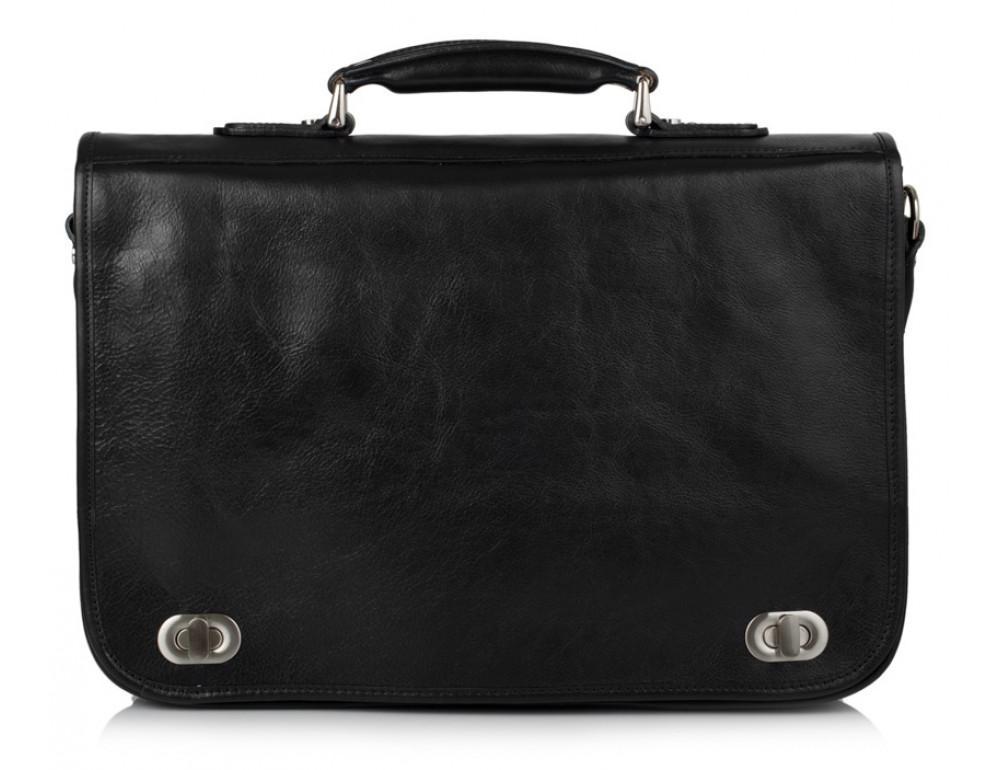 Чёрный кожаный портфель VIRGINIA CONTI V-141305A - Фото № 2