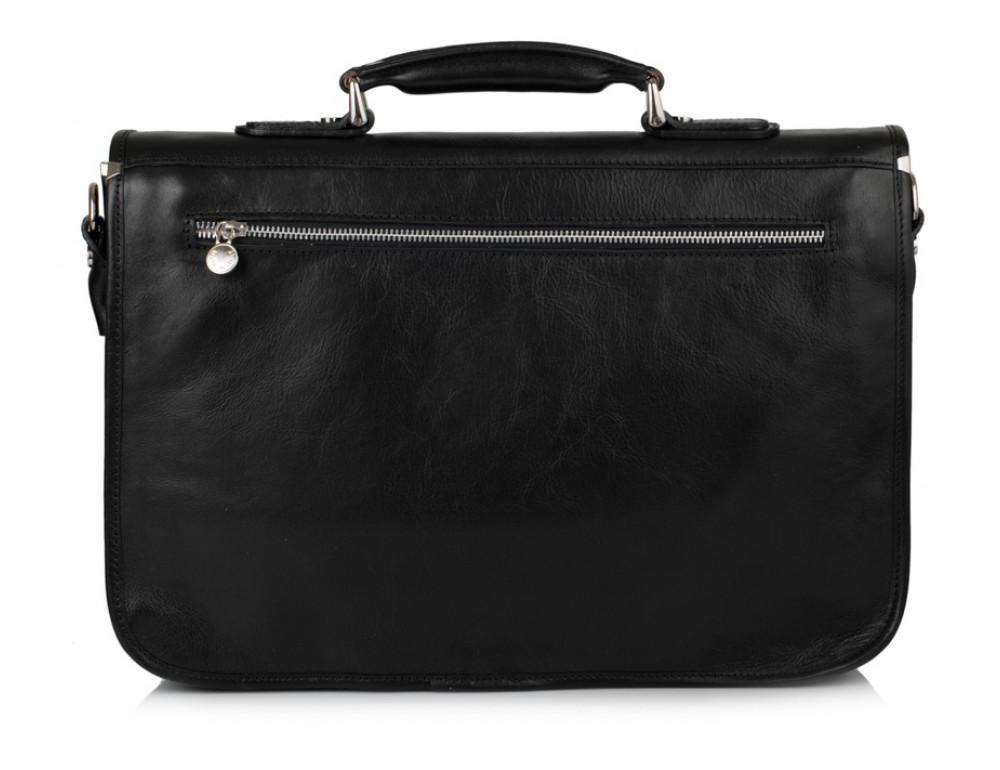 Чёрный кожаный портфель VIRGINIA CONTI V-141305A - Фото № 3