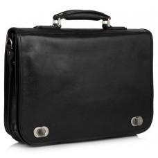 Чёрный кожаный портфель VIRGINIA CONTI VCm141305/08810black
