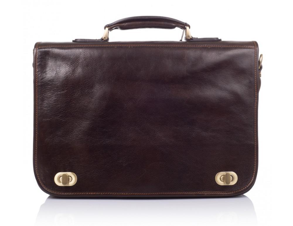 Коричневый кожаный портфель VIRGINIA CONTI V-141305C - Фото № 3