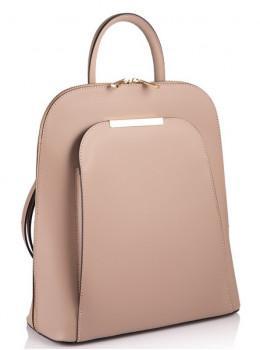 Розовый кожаный рюкзак трансформер VirginiaConti V01345P