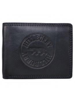 Чорный мужской портмоне из натуральной кожи Hill Burry V98HBBlack