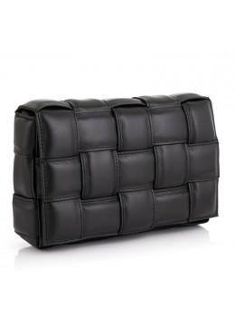 Чорна шкіряна сумочка-клатч жіноча VIRGINIA CONTI (ІТАЛІЯ) - VC02822BLACK