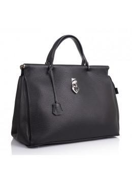 Чёрная женская кожаная сумка VIRGINIA CONTI VC2479BLACK