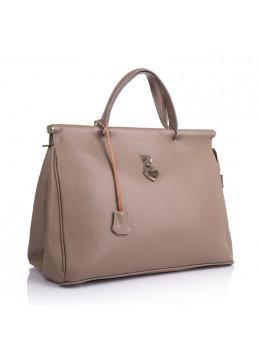 Бежевая женская сумка из натуральной кожи VIRGINIA CONTI (Италия) - VC2479DTAUPE