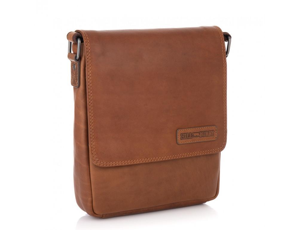 Мужская кожаная сумка мессенджер HILL BURRY - 10096HB Brown - Фото № 1