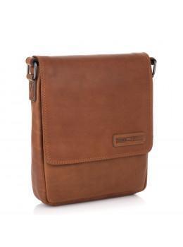 Мужская кожаная сумка мессенджер HILL BURRY - 10096HB Brown